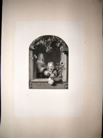 After Mieris 1854 LG Folio Steel Engraving. Blowing Bubbles. Children